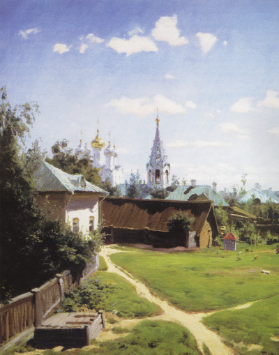 Moscow courtyard. The picture for Ivan Turgenev