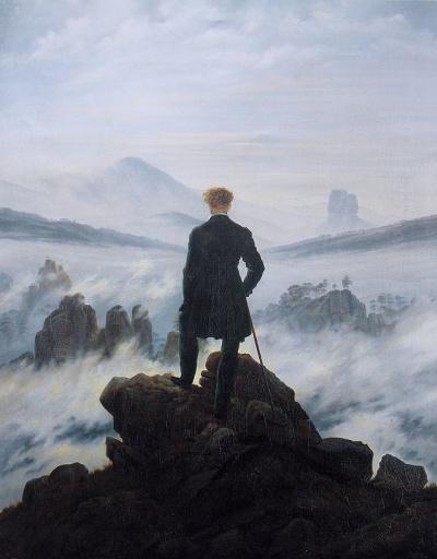 Странник над туманным морем
