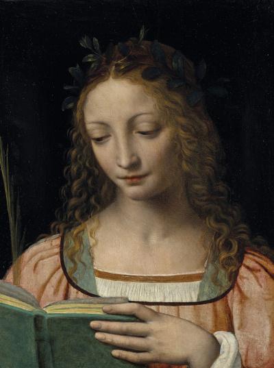 Святая с пальмовой ветвью и книгой