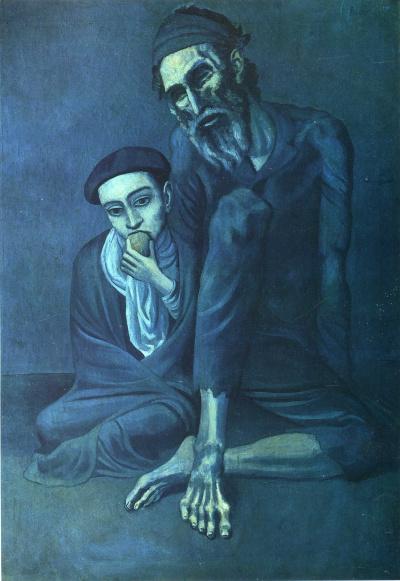 Старый еврей с мальчиком