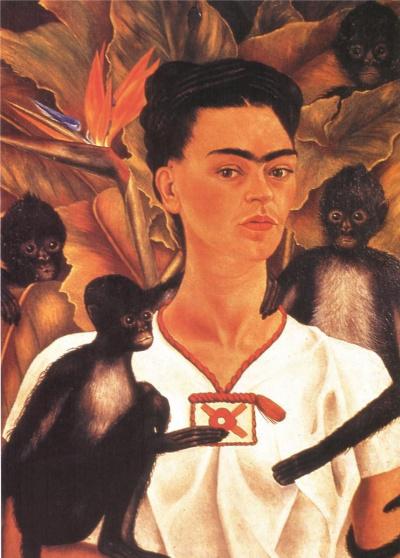 Self portrait with monkeys