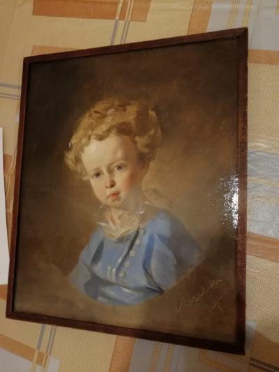 Portrait of a 1847 boy