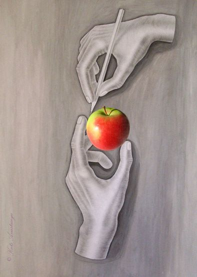 How to draw an Apple?