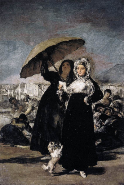 Girl with umbrella (Love letter)