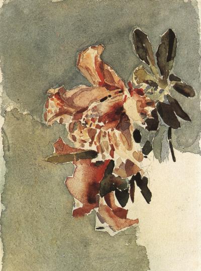 Красная азалия (Два цветка)