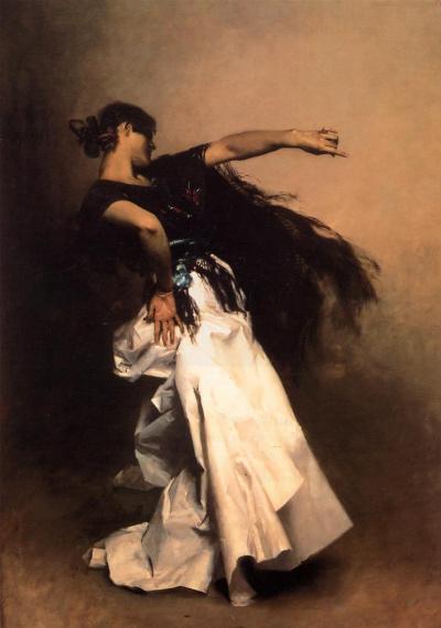 """Испанская танцовщица. Эскиз для """"Эль-Халео"""""""