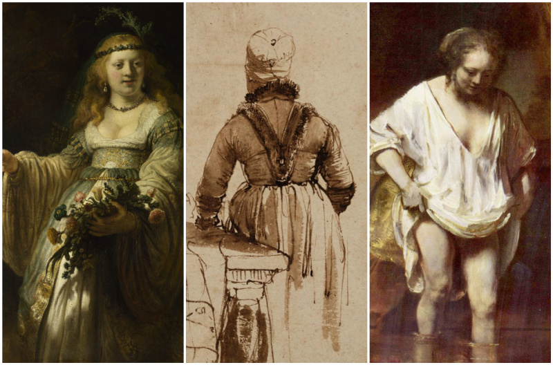 Three women in Rembrandt`s life: a goddess, a mistress and a maid