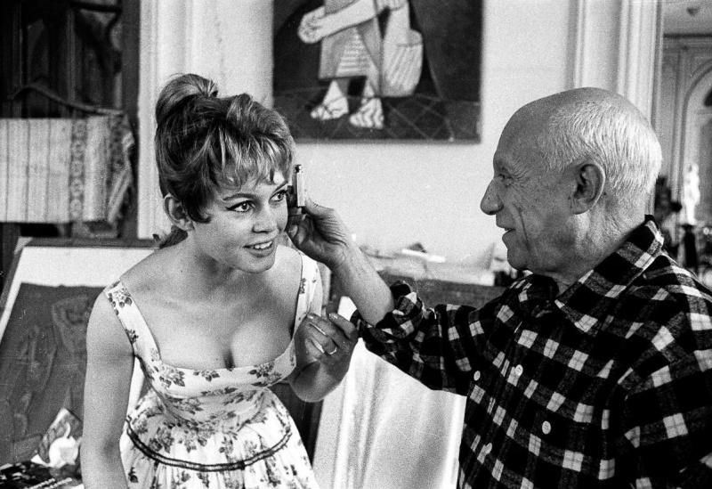 Брижит Бардо, Пабло Пикассо и несостоявшийся портрет с «хвостиком»