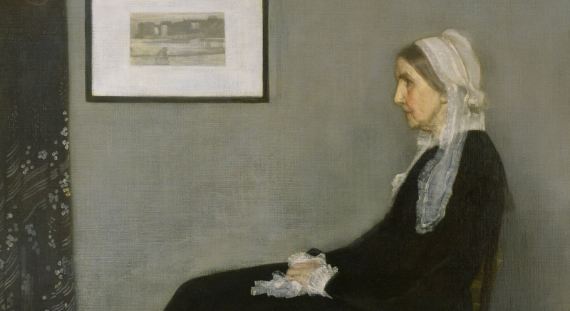 Whistler's Mother: we recognize her at first sight, but do not remember her name