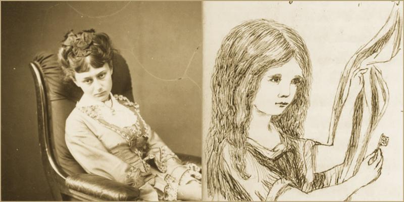 Алиса из Страны Чудес на фото и рисунках Льюиса Кэролла