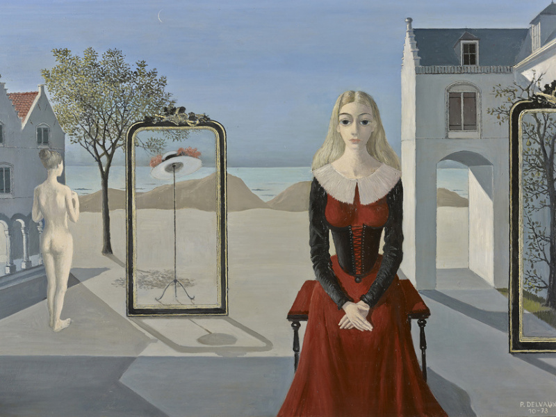 distinct social groups does not fall within paul delvaux painting style