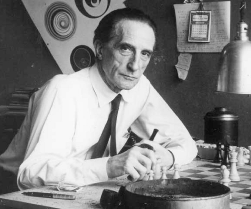Marcel Duchamp's quotes about chess beauty, art as a drug, and cunning of language