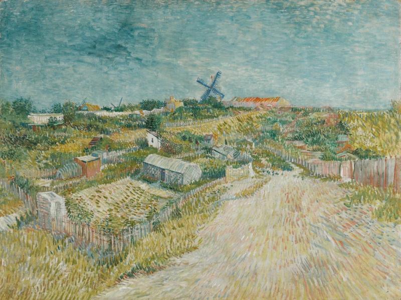 Винсент Ван Гог. Овощные сады в Монмартре