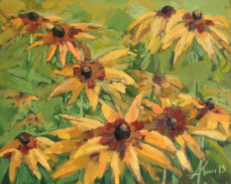 Алёна Коган. Желтые цветы