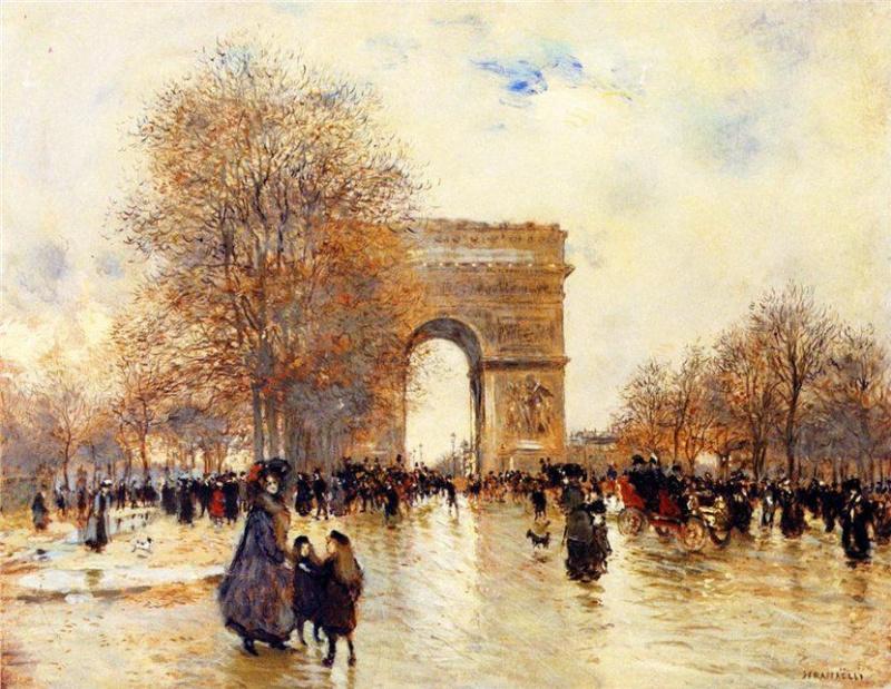 Жан-Франсуа Рафаэлли. Триумфальная Арка. Эффект осени