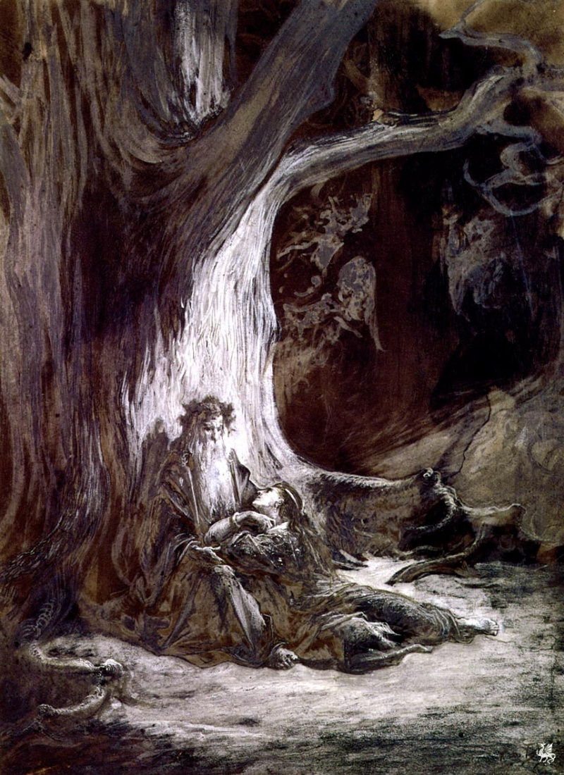 an analysis of the theme of evil in tennysons merlin and vivien Tennyson was born on the fifth of august in 1809 and grew up in a small village of somersby, lincolnshire throughout his childhood his father, george clayton tennyson, suffered from deteriorating mental health, epileptic fits, and alcoholism.