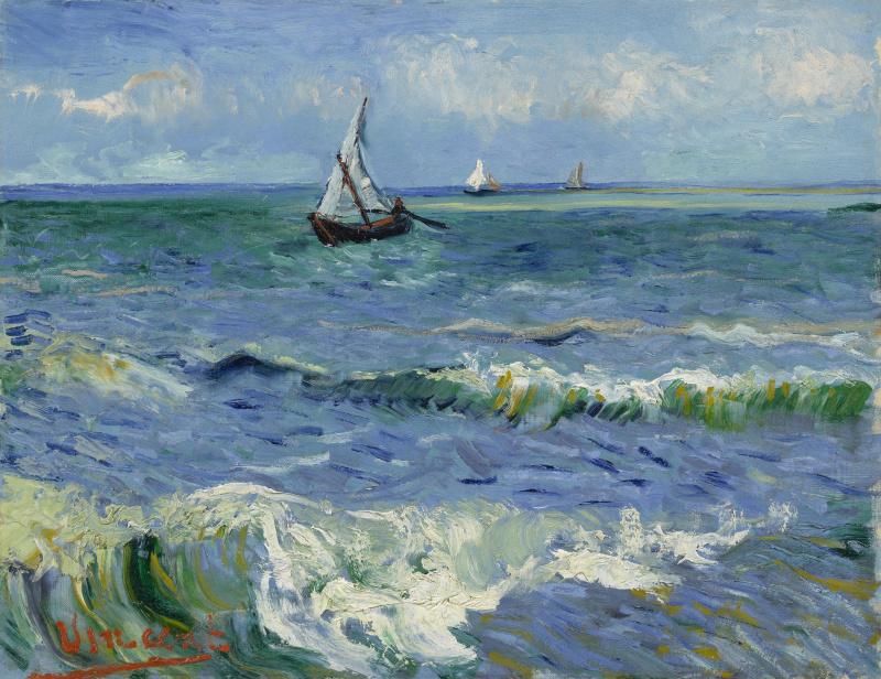 Vincent van Gogh. Seascape at Saintes-Maries-de-La-Mer