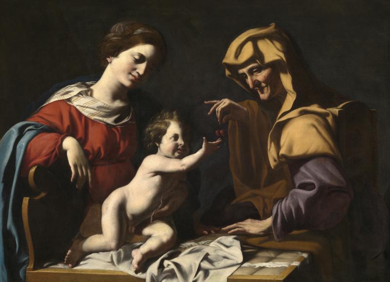 Антиведуто Грамматика. Богородица с младенцем и Святой Анной