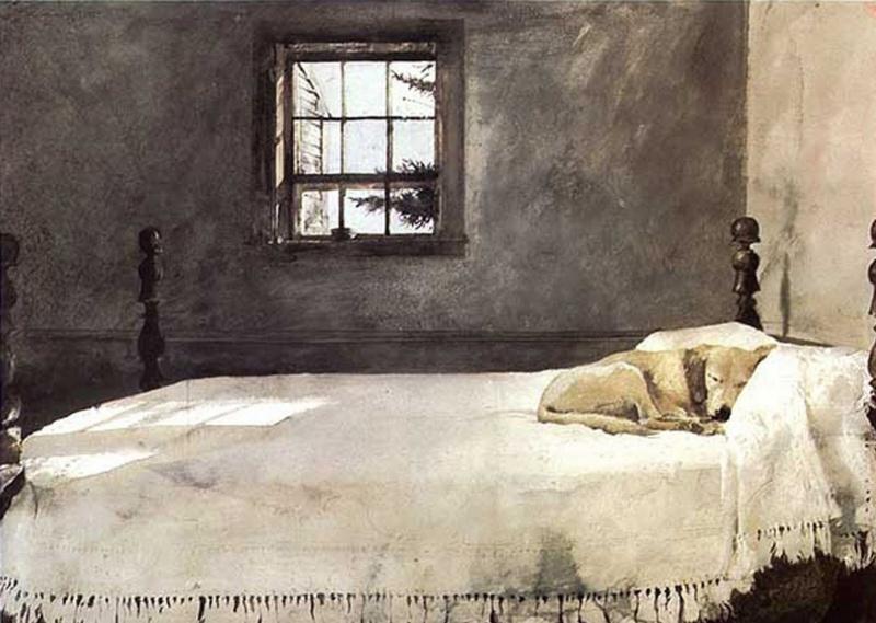 Эндрю Уайет. Спальня хозяина