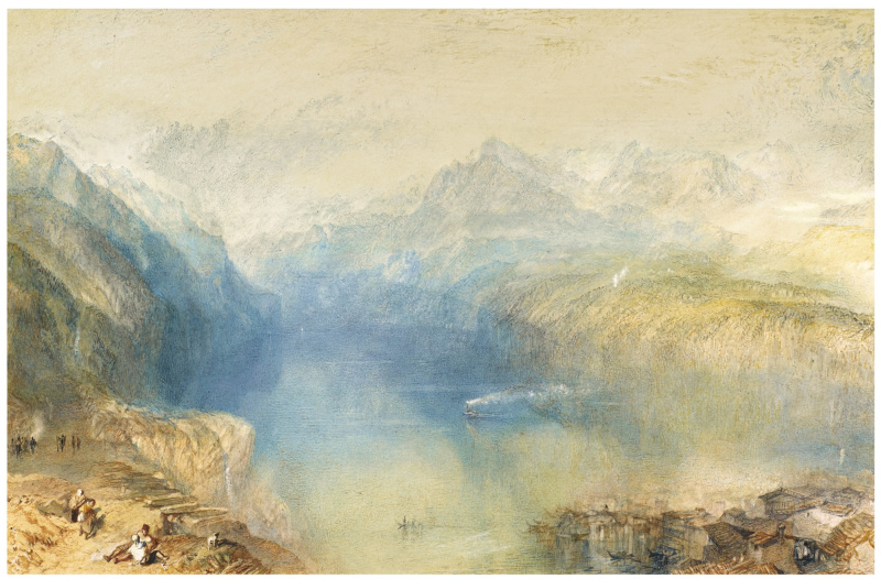 Joseph Mallord William Turner. THE LAKE OF LUCERNE FROM BRUNNEN