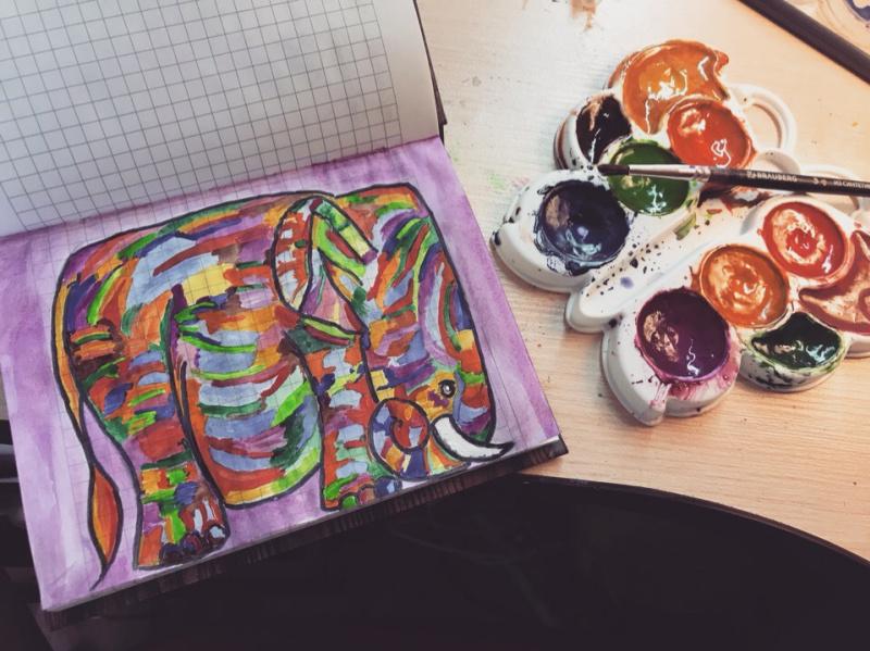 Эвелина Голубева. Радужный Слон