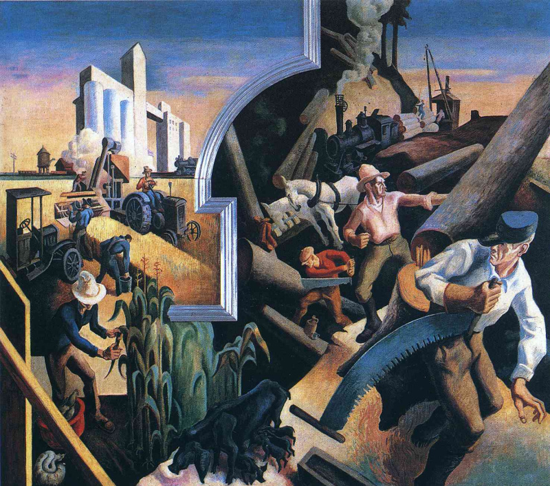 a literary analysis of cradling wheat by thomas hart benton Thomas hart benton was a major american artist from missouri his paintings are famous for showing ordinary people doing common things thomas hart benton became the leader of a movement in american art called regionalismbenton with fellow regionalist painters grant wood and john steuart.