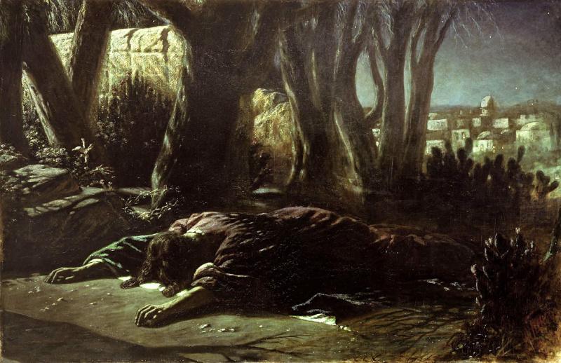 Vasily Grigorievich Perov. Christ in the garden of Gethsemane