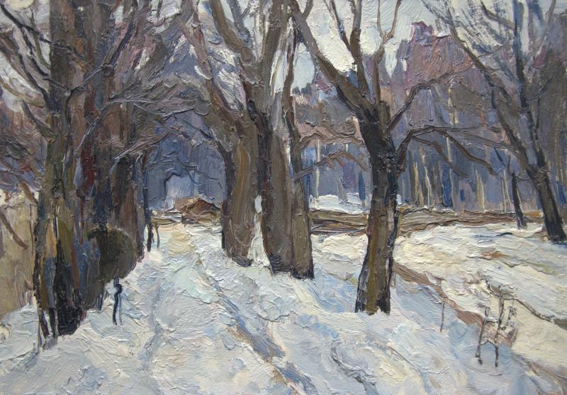 Oleg Borisovich Zakharov. Winter in Sokolniki. Etude.