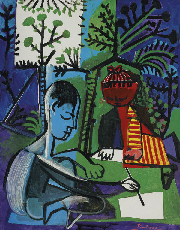 Pablo Picasso. Painting Claude and Paloma