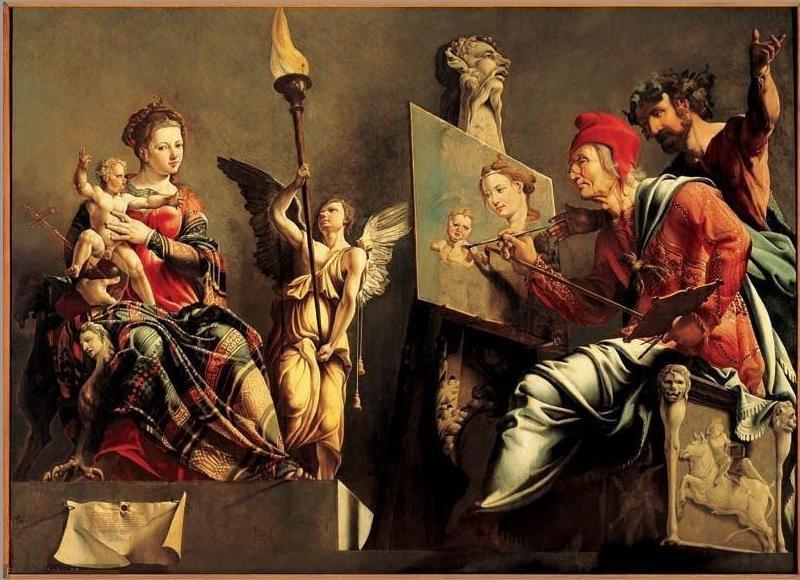 Мартен ван Хемскерк. Св. Лука, рисующий богоматерь