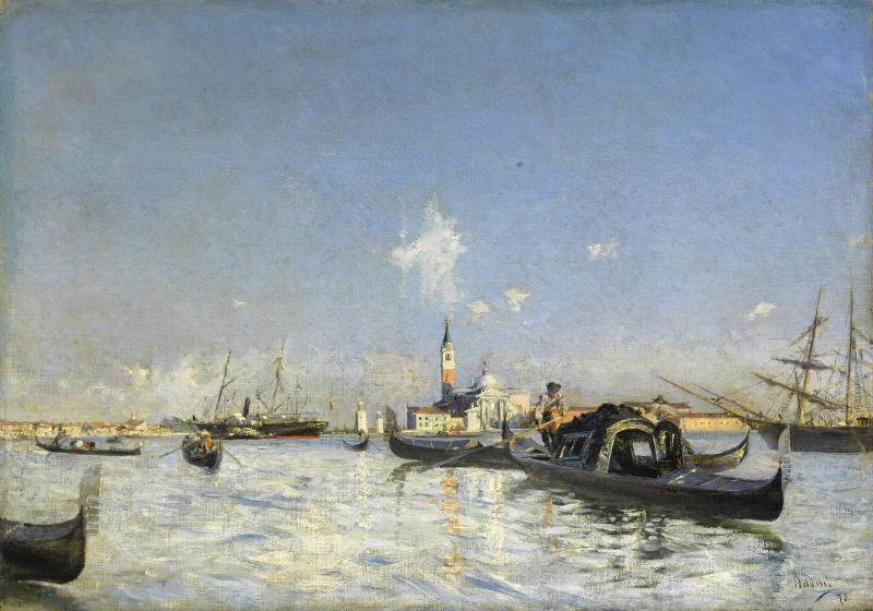 Giovanni Boldini. View of the island of San Giorgio in Venice