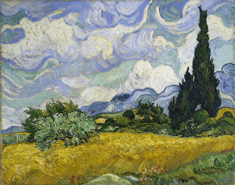 Винсент Ван Гог. Поле с кипарисами (вариант)