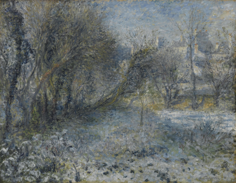 Пьер Огюст Ренуар. Снежный пейзаж