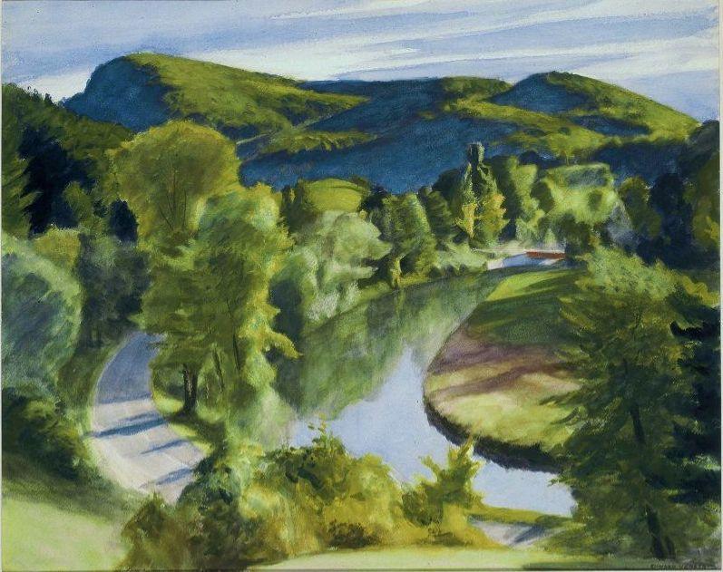Эдвард Хоппер. Первая излучина реки Белой, Вермонт