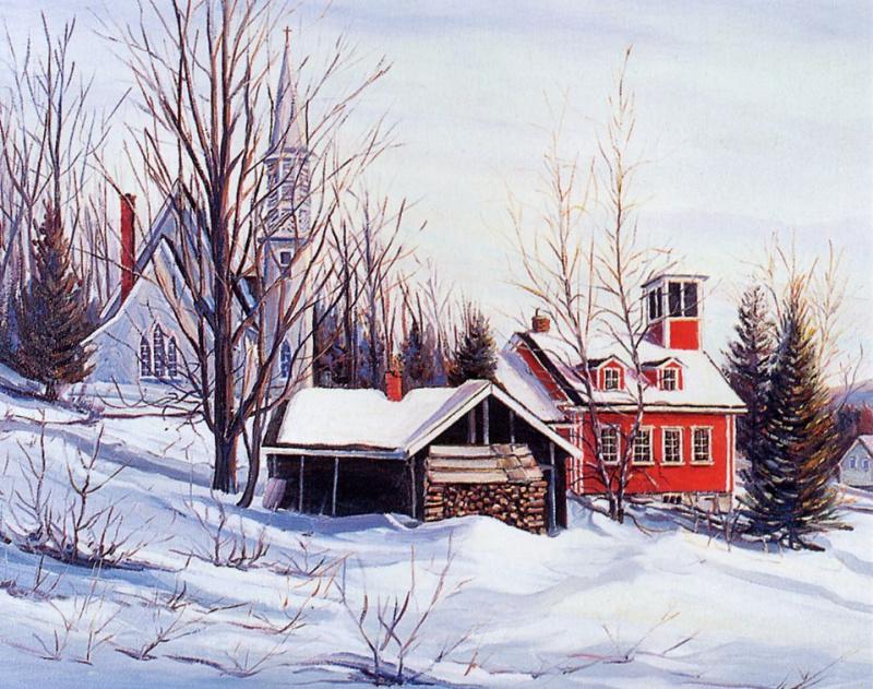 Жан-Ноэль Фортин. Зимний пейзаж