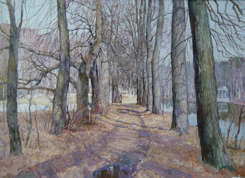 Boris Petrovich Zakharov. Spring alley.