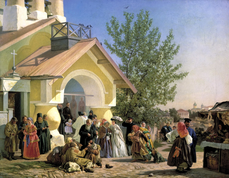 Александр Иванович Морозов. Выход из церкви в Пскове