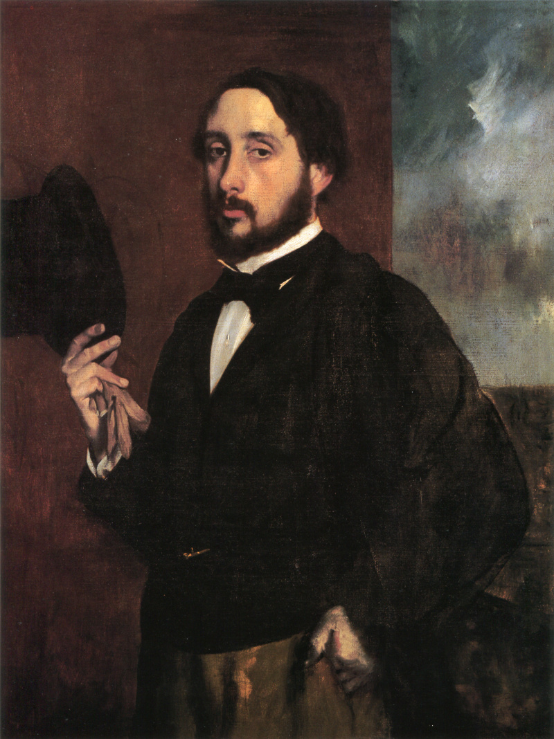 Edgar Degas. A self-portrait. Greeting