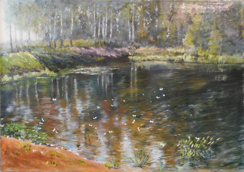 Елена Вяземская. On the pond