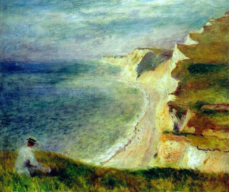 Пьер Огюст Ренуар. Скалы на побережье недалеко от Пурвилля