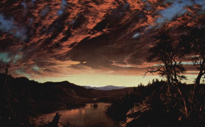 Frederick Edwin Church. Sunrise in desert edge