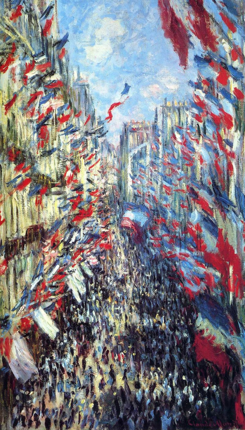 Claude Monet. The Rue Montorgueil in Paris, festival of 30 June 1878