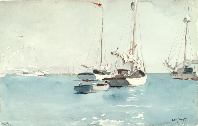 Winslow Homer. Boats, Key West