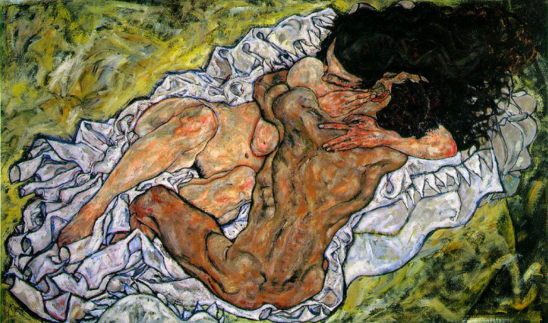 Egon Schiele. The Embrace (Lovers)