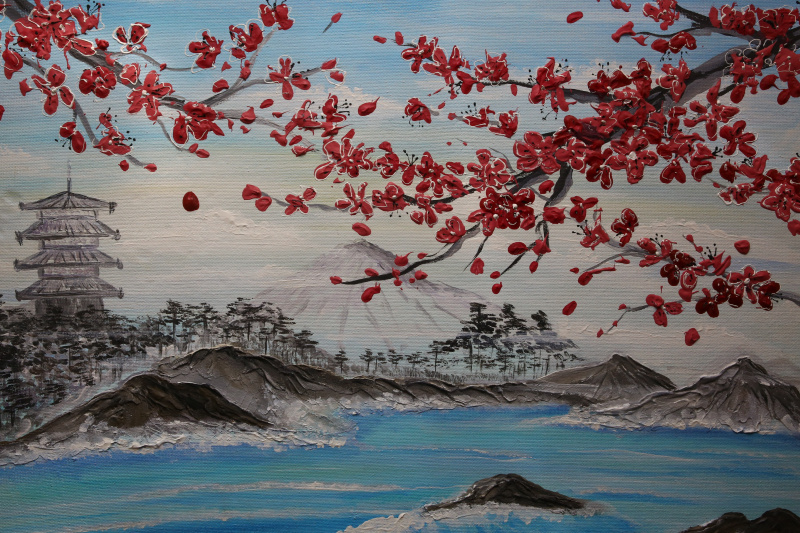 Натали Колибри. Cherry blossoms