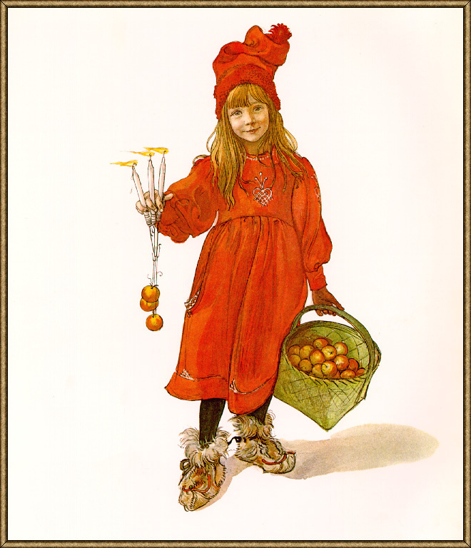 Carl Larsson. Candle in hand