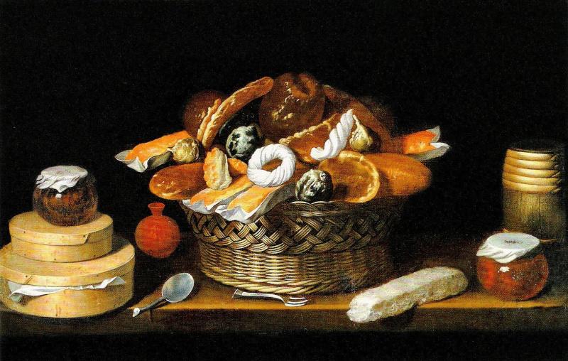 Хуан ван дер Амен-и-Леон. Натюрморт с корзиной со сладостями