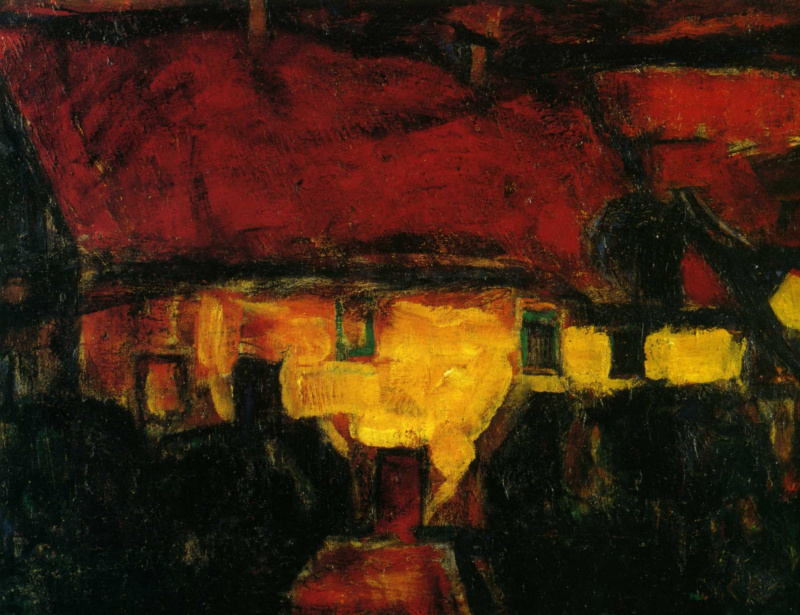 Кристиан Рольфс. Дом с красной крышей