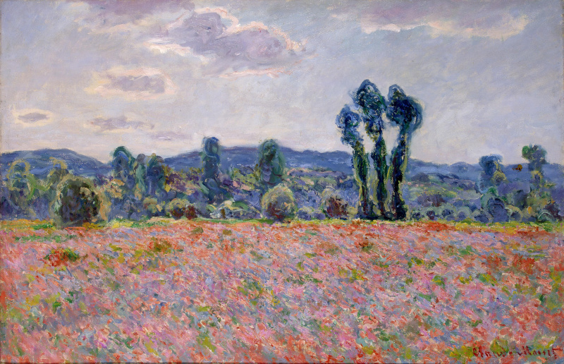 Claude Monet. Field of poppies at Giverny