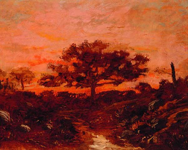 Theodore Rousseau. Study along Fontainebleau